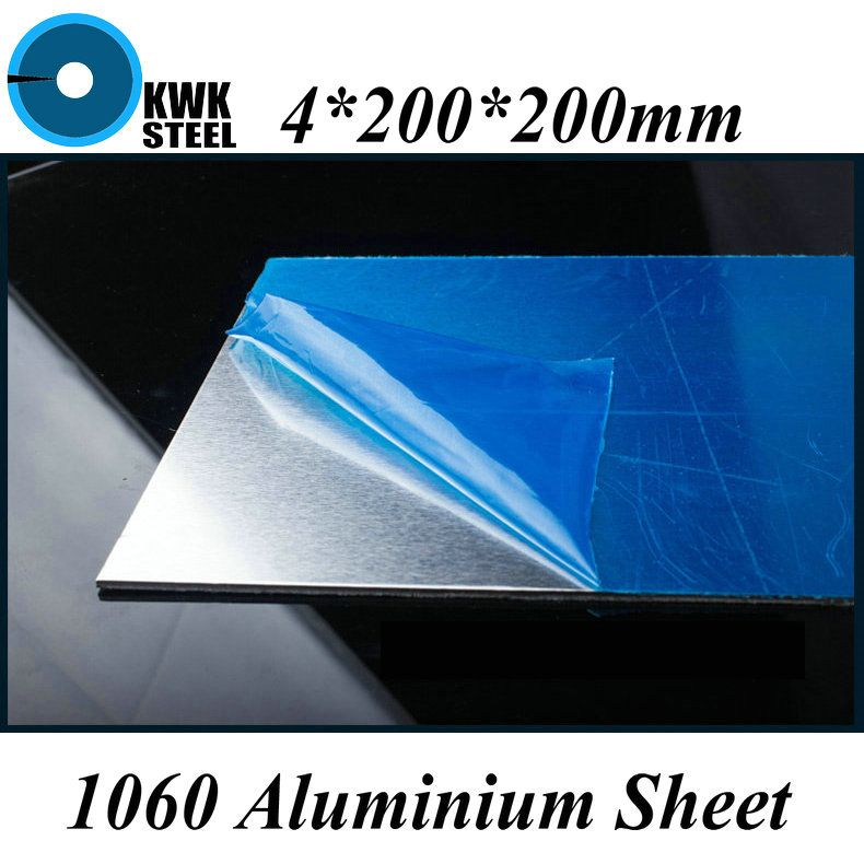 4 200 200mm Aluminum 1060 Sheet Pure Aluminium Plate Diy Material Free Shipping With Images Diy Materials Plates Diy Aluminium