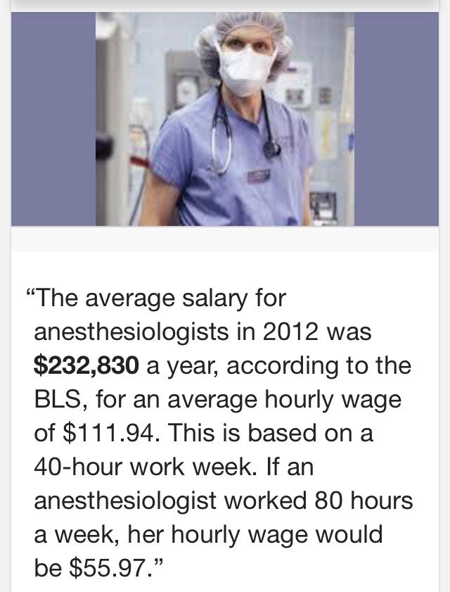 Anesthesiologist Salary  College And Future Career Tips