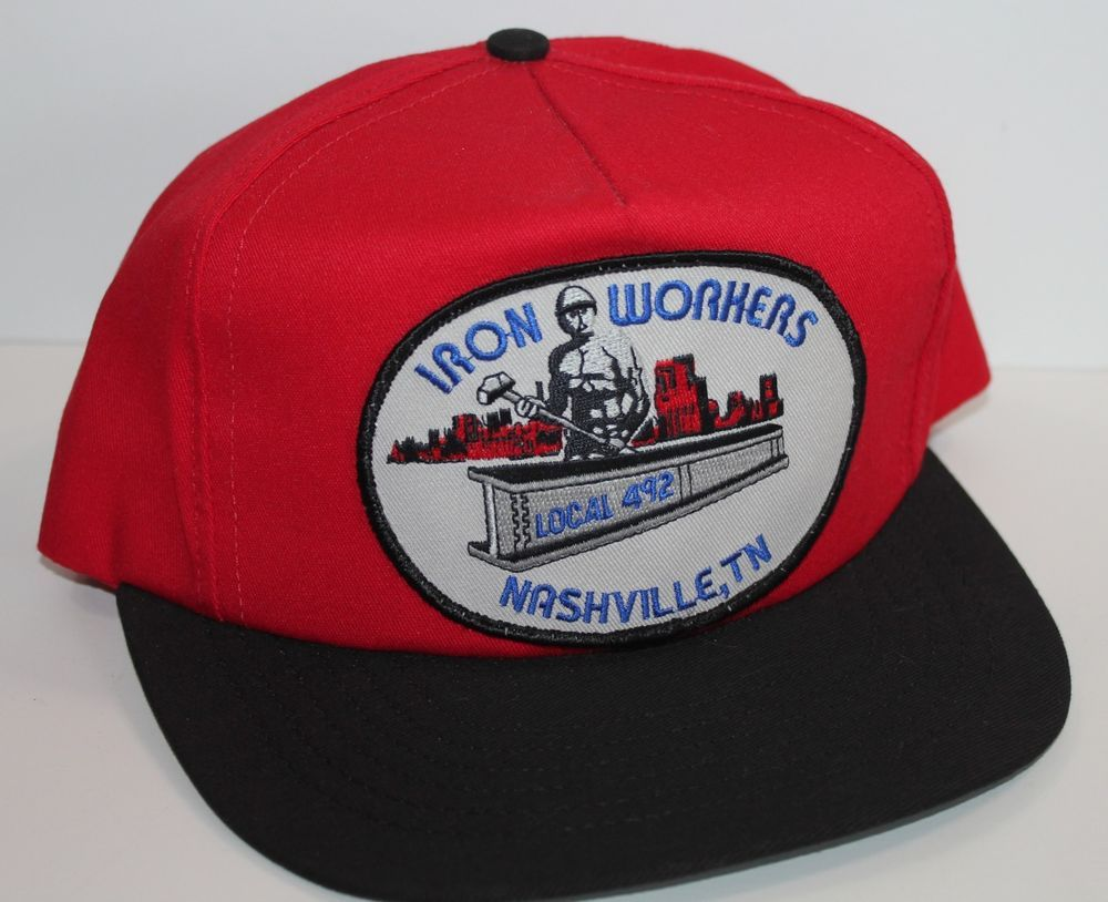 5f3087e847d Vintage Nashville Ironworkers Local 492 Trucker Hat Snapback USA Made   Unbranded  TruckerHat