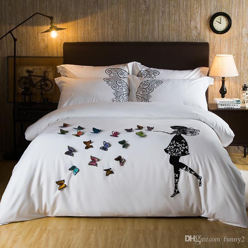 3d Bedding Set A Few Butterflies Full Size Home Textiles Duvet Covers Bed Linen Pillow Cases Wholesale Home Bed Linen Sets Bed Linen Design Designer Bed Sheets