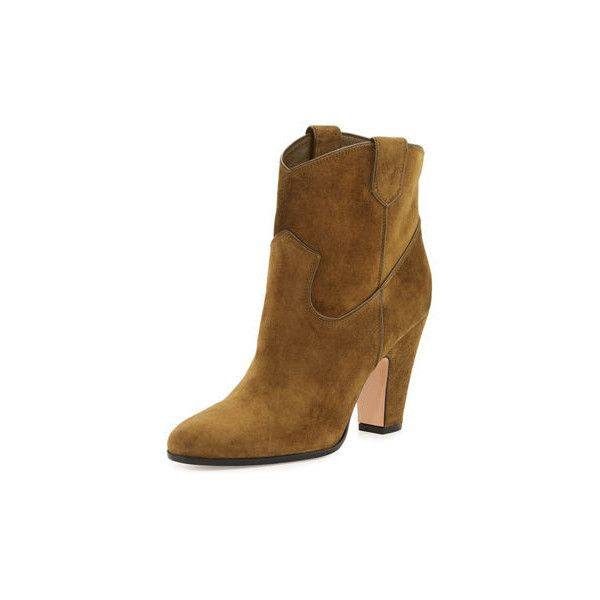 Gianvito Rossi Western Suede Booties qCvnrMPSlg