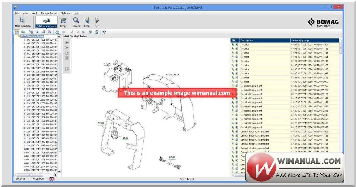 bomag epc electronic parts catalogue upload 2013 db version 5 2