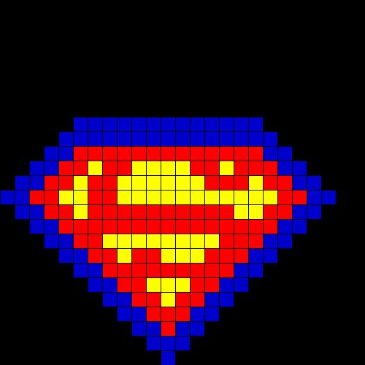 Superman Fusebead Perler Bead Pattern Bead Sprites
