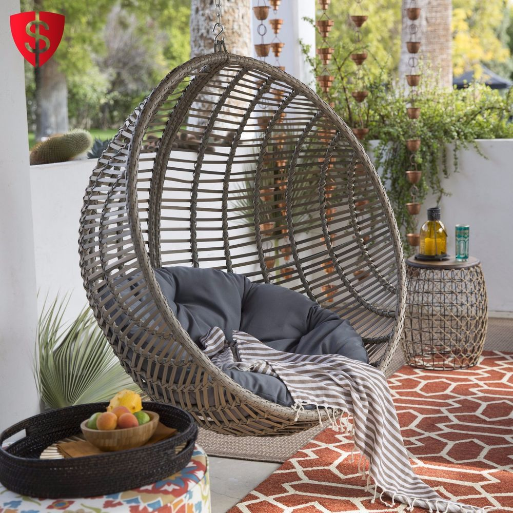 Hanging Patio Chair Egg Swing Chair Hanging Outdoor Patio Furniture Stand Shape Seat