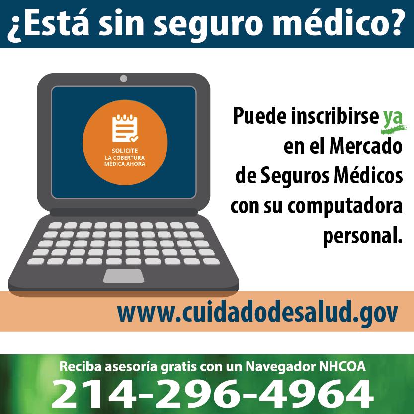 Puedes inscribirte en el Mercado de Salud ya por Internet: www.cuidadodesalud.gov #Asegurate