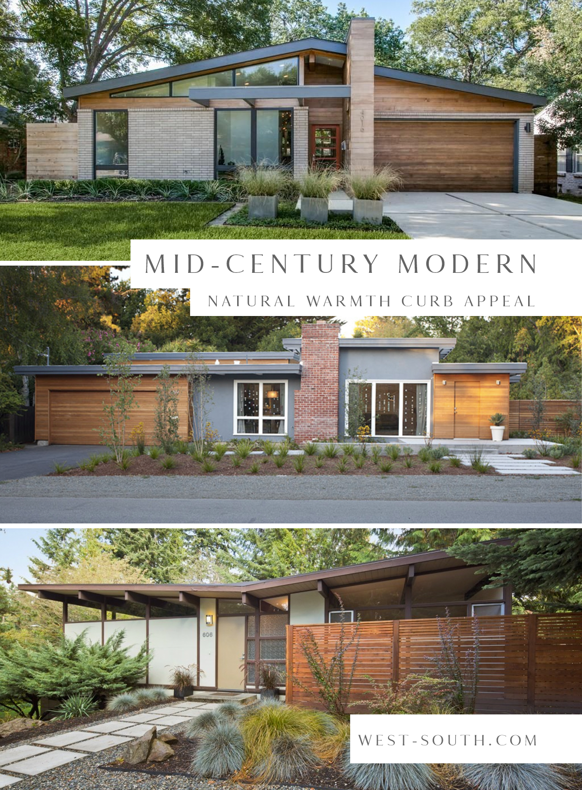 Know Your Home: Mid-Century Modern Style | West | South
