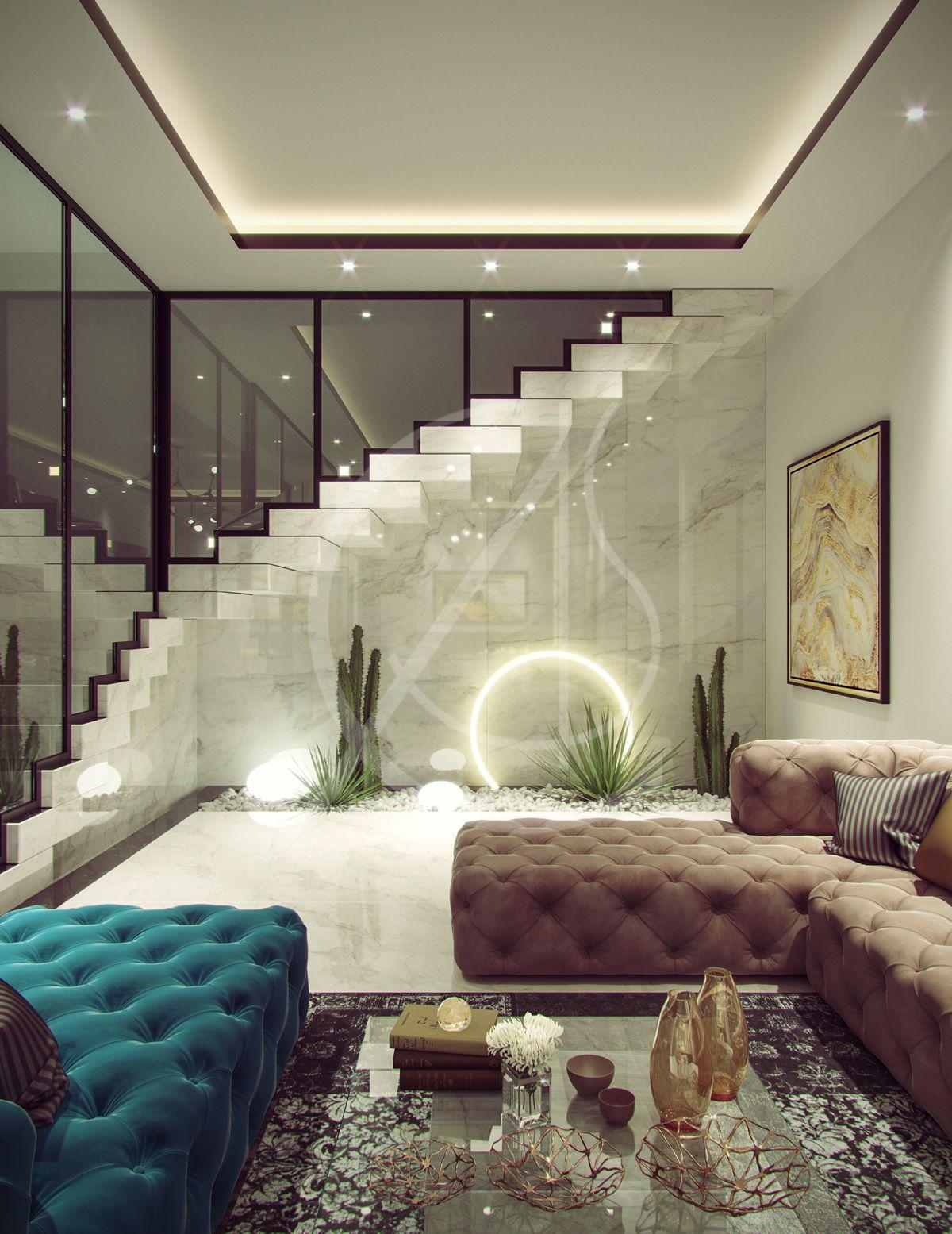 Family Villa Contemporary Arabic Interior Design   Riyadh, Saudi ...