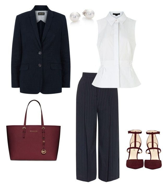 """""""Senza titolo #135"""" by martariri ❤ liked on Polyvore featuring Topshop, Alexander Wang, Nine West, MICHAEL Michael Kors, Jaeger and Mikimoto"""