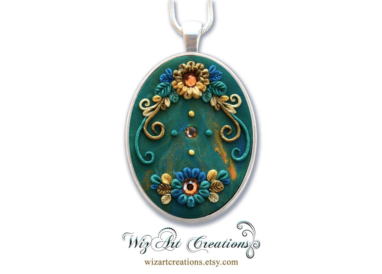 fimo - handmade pendant unique piece for creation Handmade