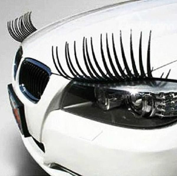 Cute Eyelash Car Sticker For The Two Headlights Hot Popular Car - Where to buy stickers for cars