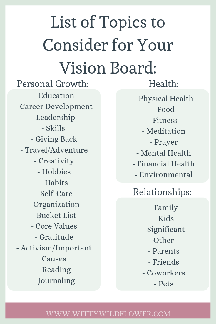 How To Make A Stunning Vision Board Health Careers Financial Health Career Development
