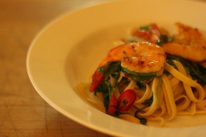 Recipe roulette prawn chilli linguine babymac seafood recipe roulette prawn chilli linguine babymac forumfinder Image collections
