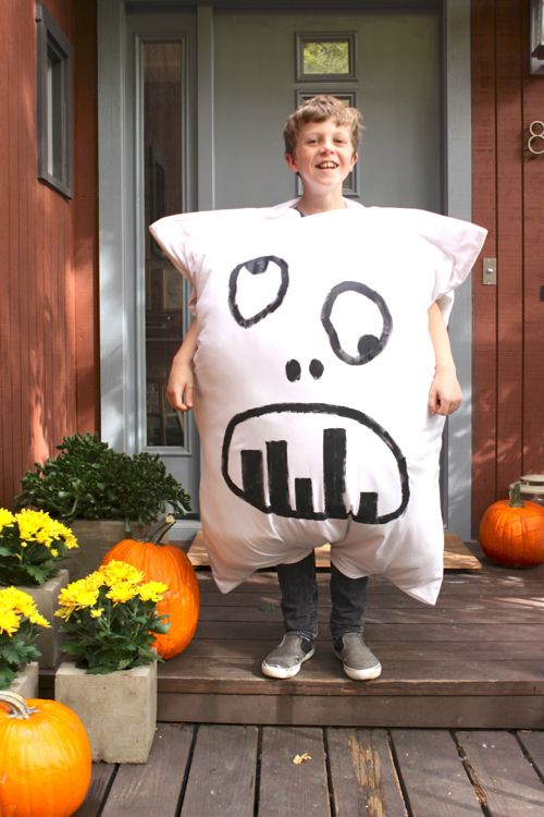 Pillow Costume Ideas: Homemade Pillow Monster Halloween Costume DIY  Cheap and easy    ,