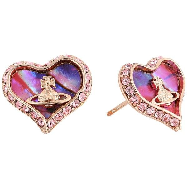Vivienne Westwood Petra Earrings Pink Mother Of Pearl Light Rose