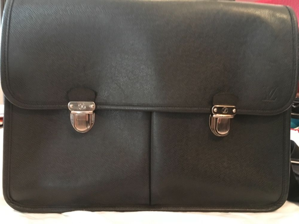 d0f41a0c13 Louis vuitton Black Taiga Anton Briefcase #fashion #clothing #shoes ...