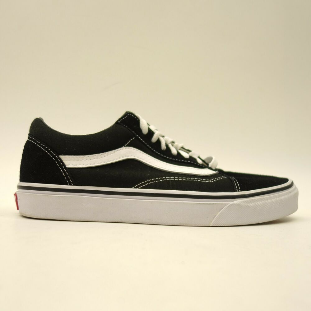 52d5b0fa8165 Vans US 9.5 EU 40.5 Old Skool Canvas Classic Black Low Top Skate Shoes  Womens