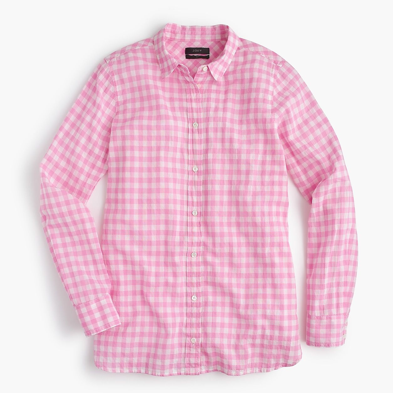 c026649d821 Petite Classic-Fit Boy Shirt In Crinkle Gingham