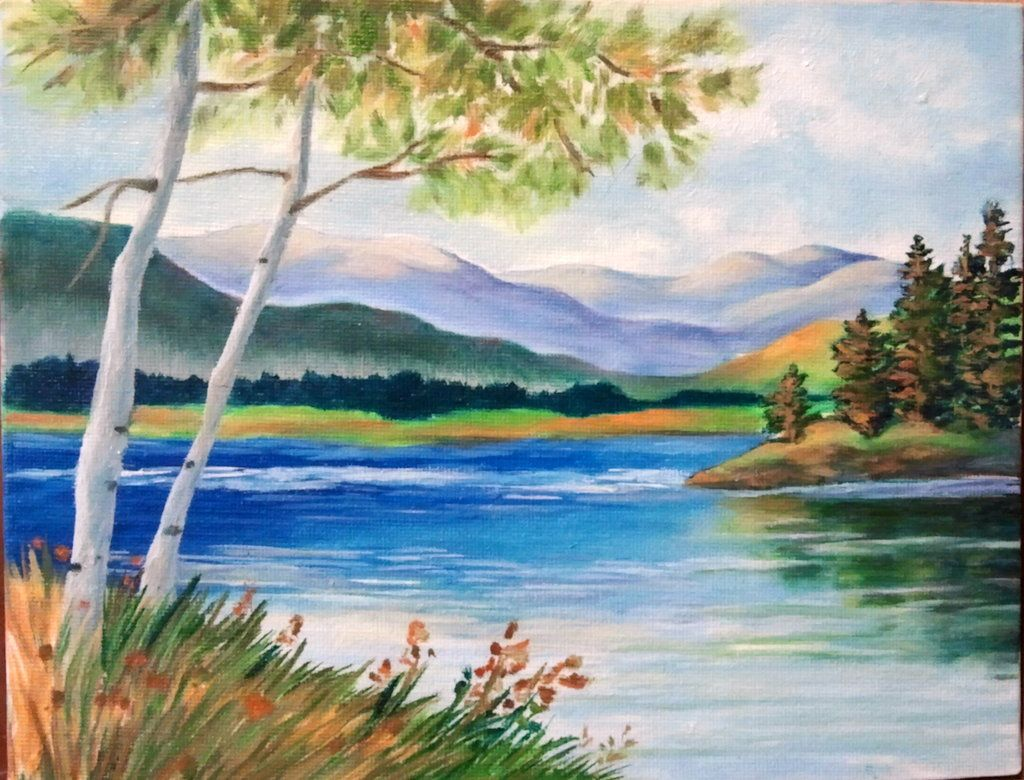 Images For > Easy Scenery Paintings | paint party ...