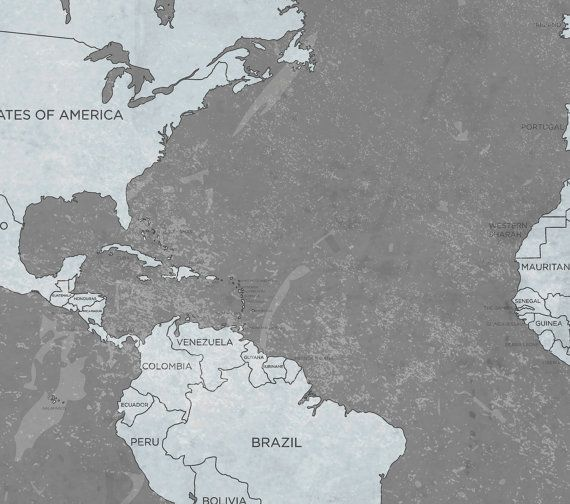 World map canvas print vintage neutral dark anthracite gray world world map canvas print vintage neutral dark by natalyborichart gumiabroncs Image collections