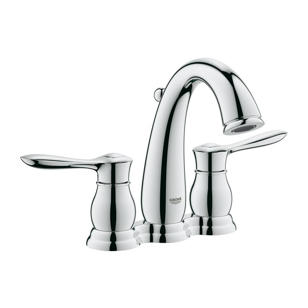 GROHE Parkfield 4 in. Centerset 2-Handle 1.2 GPM Bathroom Faucet in ...