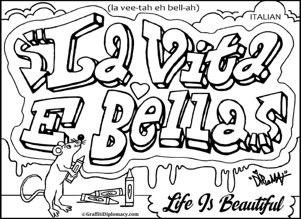 Graffiti Read Colouring Pages Name Coloring Pages Flag Coloring Pages Coloring Pages