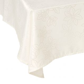 Ivory Rosetta Stain Resistant Tablecloths     Quick Info: Price £12.00 A  Chic