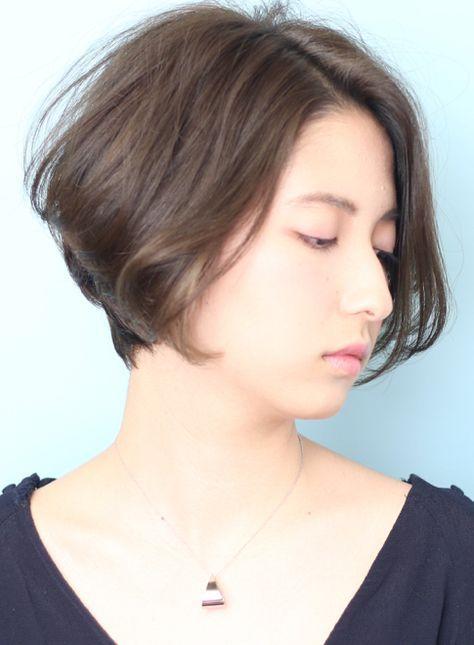 大人女子・丸みが可愛いショートボブ(髪型ショートヘア