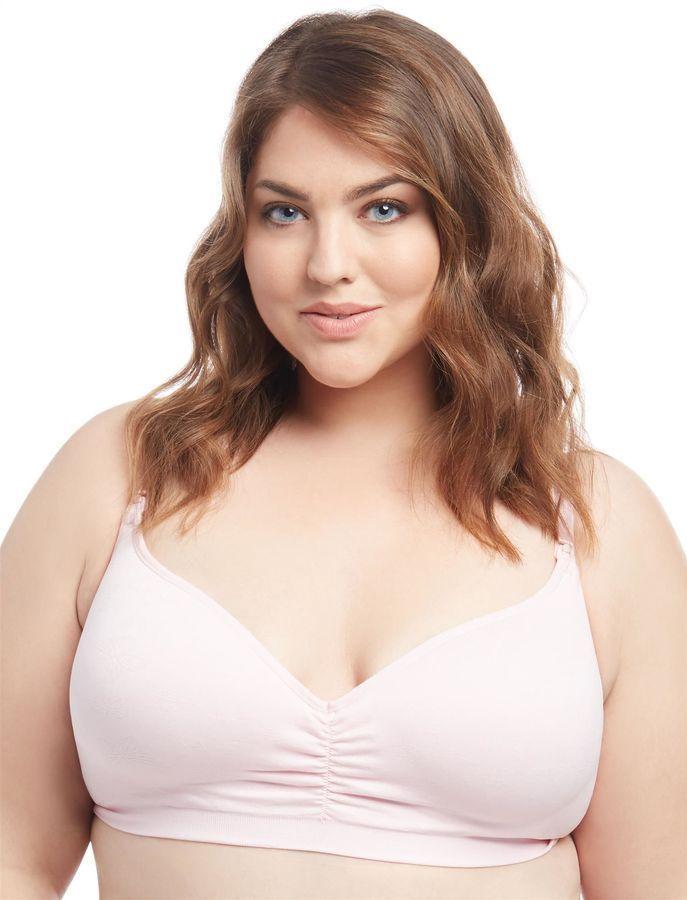 c14df543d2e50 Motherhood Maternity Jessica Simpson Plus Size Seamless Clip Down Nursing  Bra