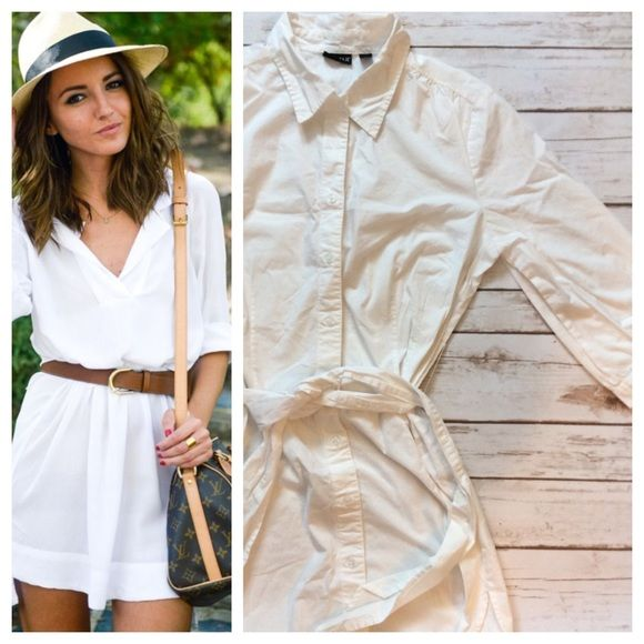 Shirt dress Crisp white cotton shirt dress with optional matching ...