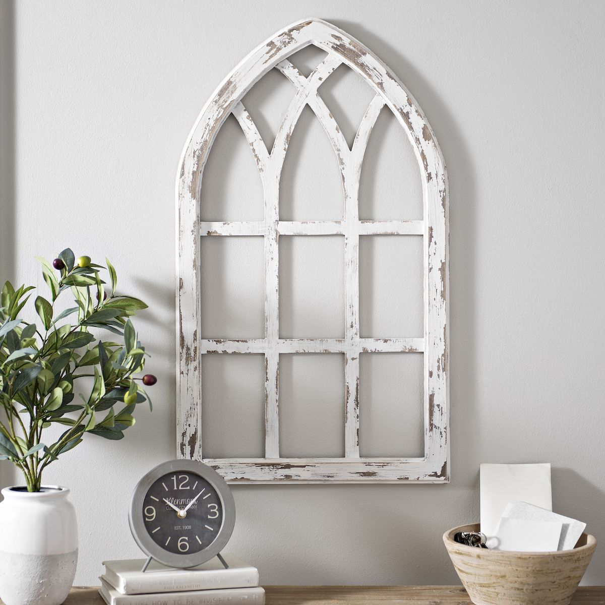 Window pane decor if you donut have a fireplace use wall decor to create a focal