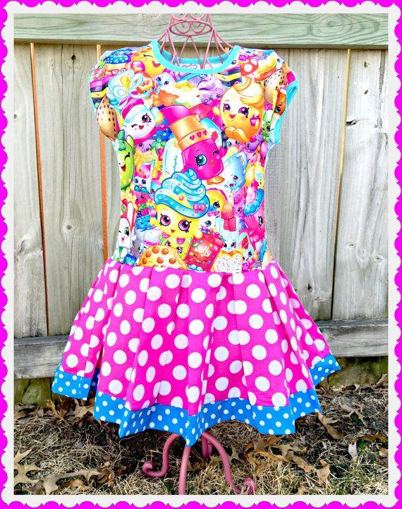 chicas Shopkins Vestido de Apple Blossom por BlossomBlueBoutique ...