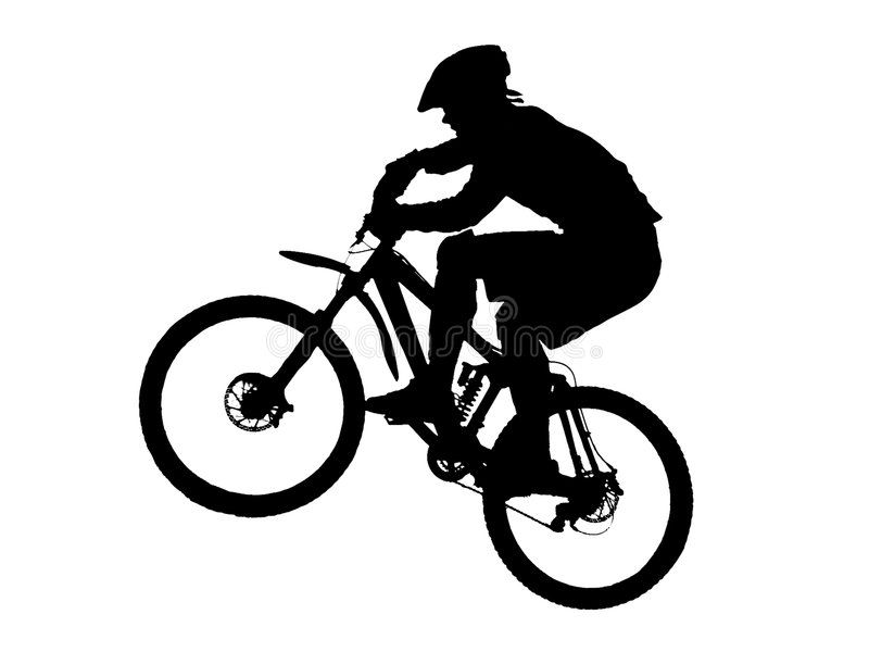 Mountain Biker Jump With A Mountain Bike With Vector Eps Format Sponsored Sponsored Ad Biker Mountain Eps Bike Silhouette Mountain Biking Bike