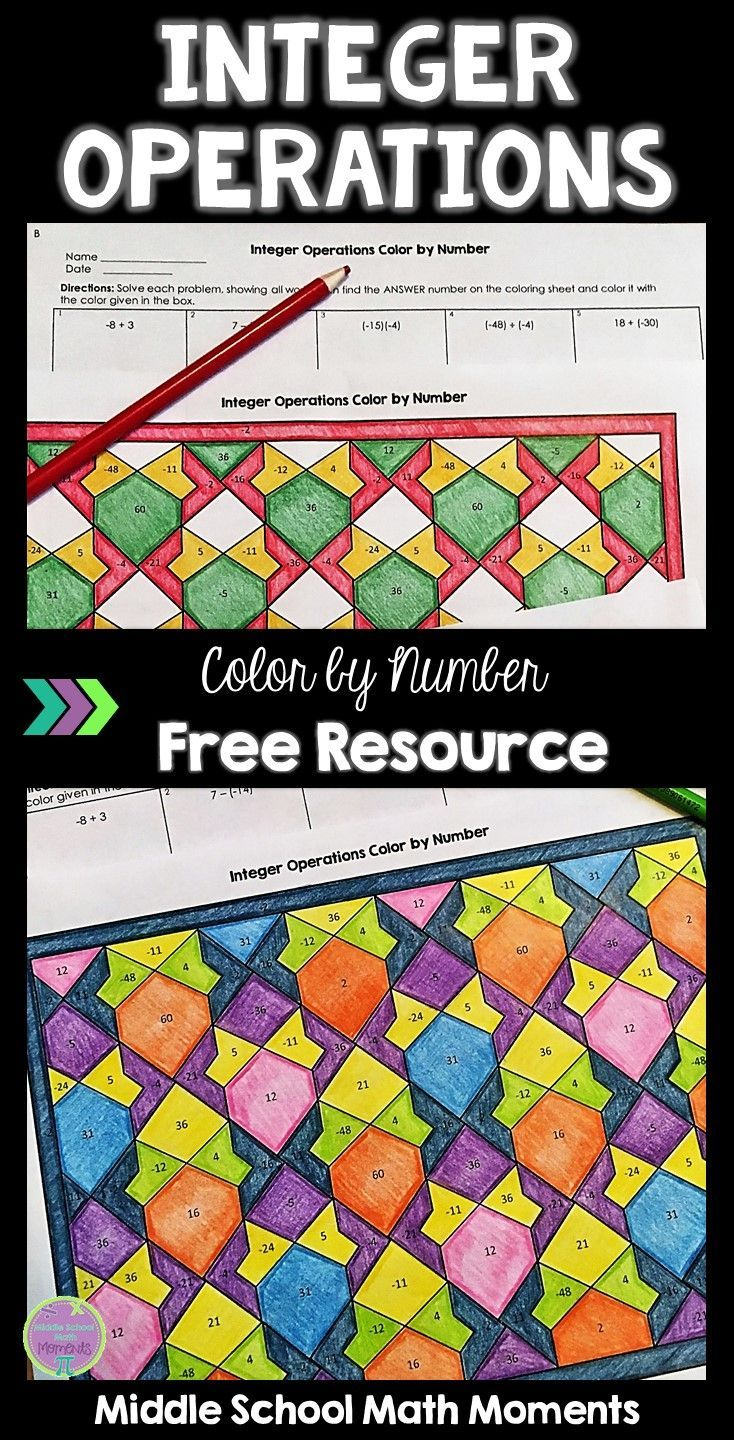 Try this engaging, self-checking color by number to help your math ...