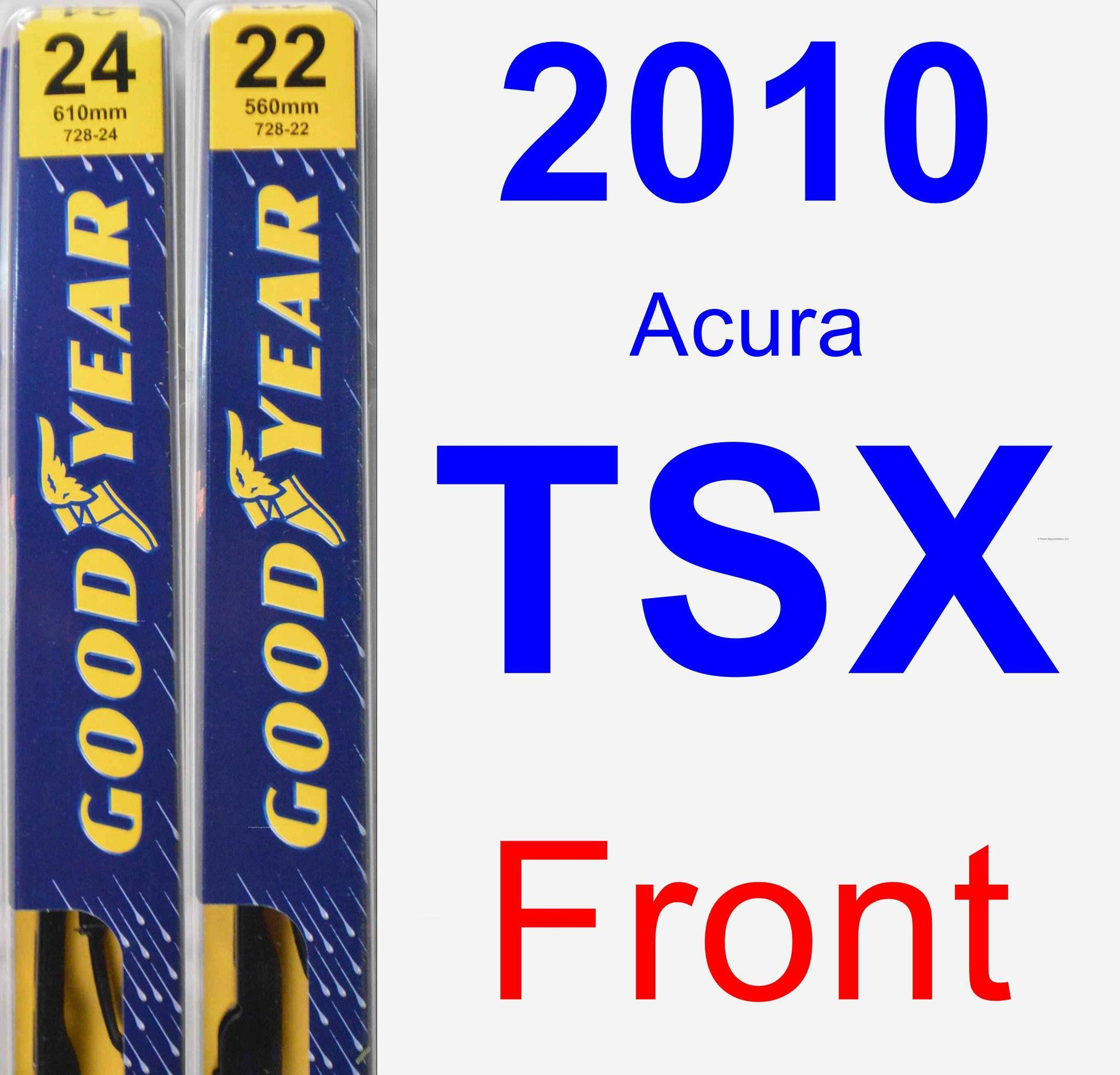 Front Wiper Blade Pack For 2010 Acura TSX