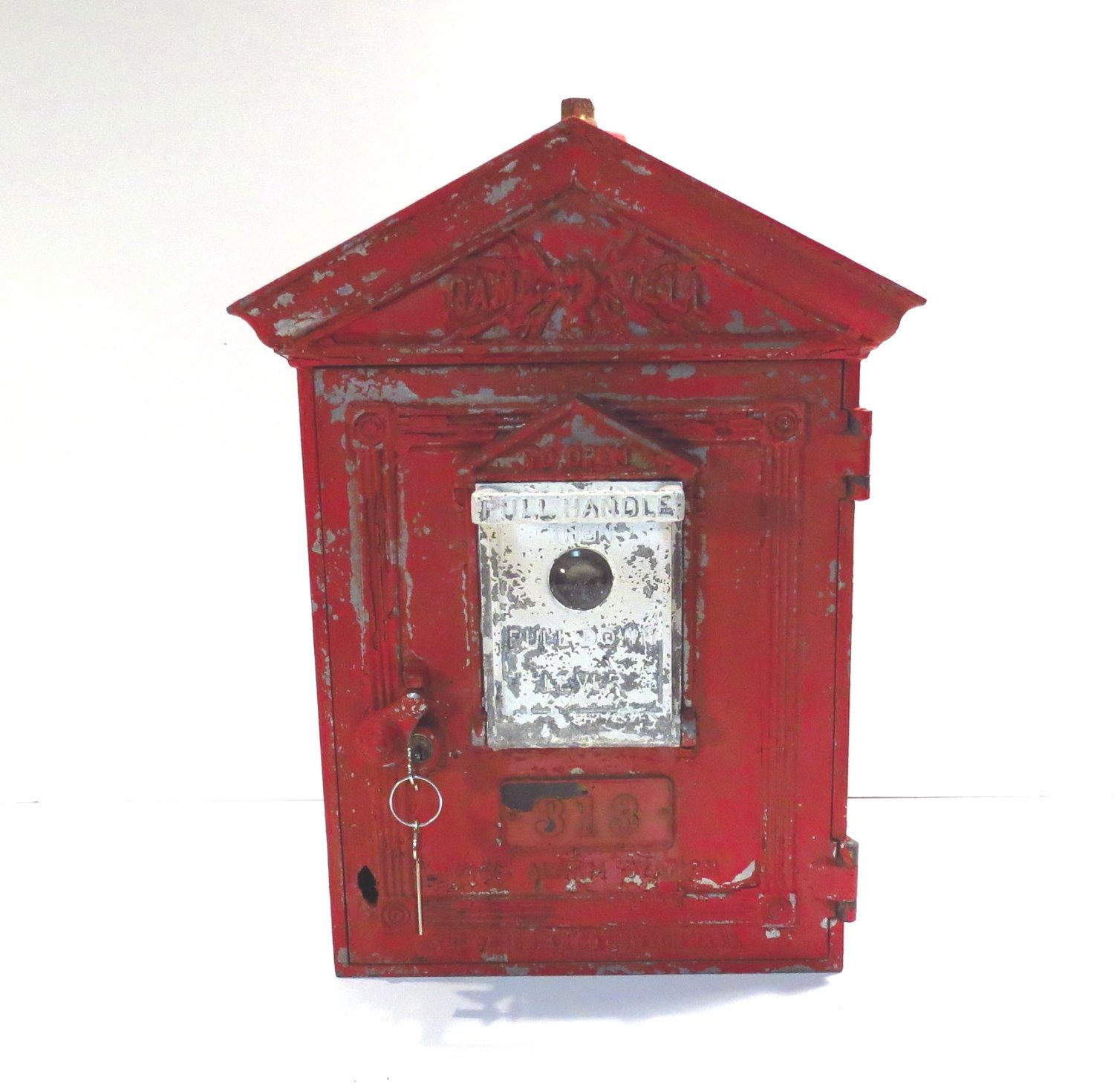 Gamewell Fire Alarm Box Vintage Early 1900s Fire Call Box