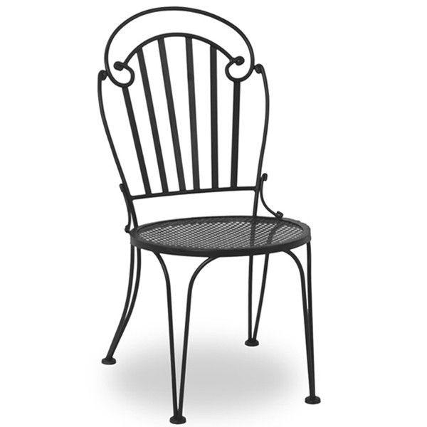 Nice Black Metal Patio Chairs Display