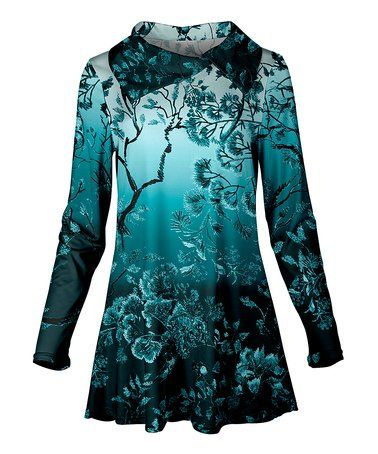 This Teal Blossom Collar Tunic - Plus Too is perfect! #zulilyfinds