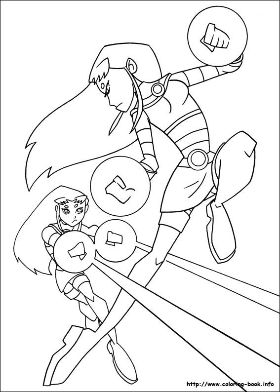 Teen Titans coloring picture | Cartoon Coloring Pages | Pinterest ...