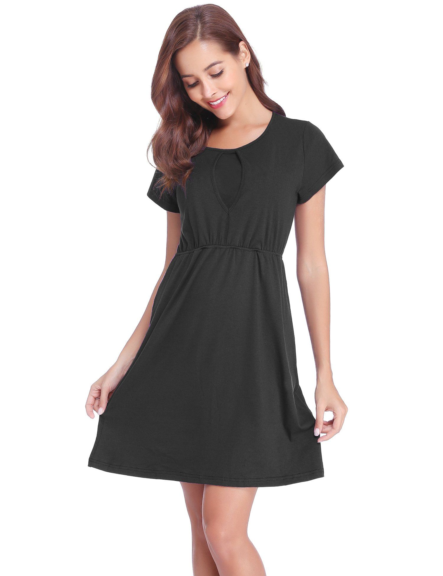 778b5362e Maternity Styles - cool maternity dresses   Abollria Womens Short Sleeve  Ruched Maternity Nursing Breastfeeding Dress   You could get extra  information at ...
