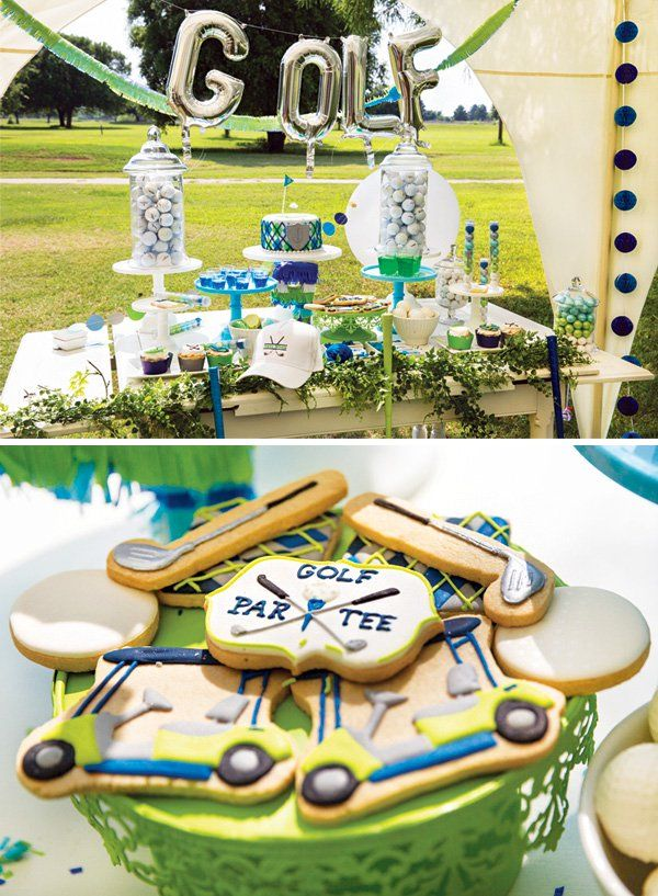 Outstanding Its Tee Time Preppy Golf Themed Birthday Party Party Home Interior And Landscaping Pimpapssignezvosmurscom