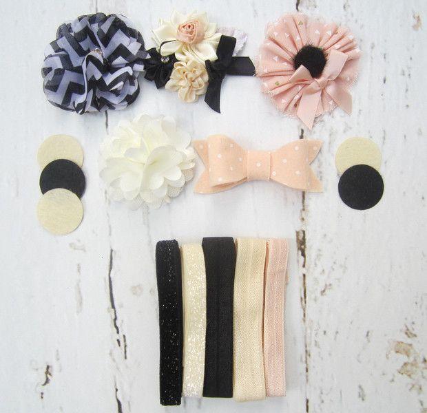 Bastelset - DIY 5 Haarbänder Bastelset Blümchen Elegant Chic - ein Designerstück…