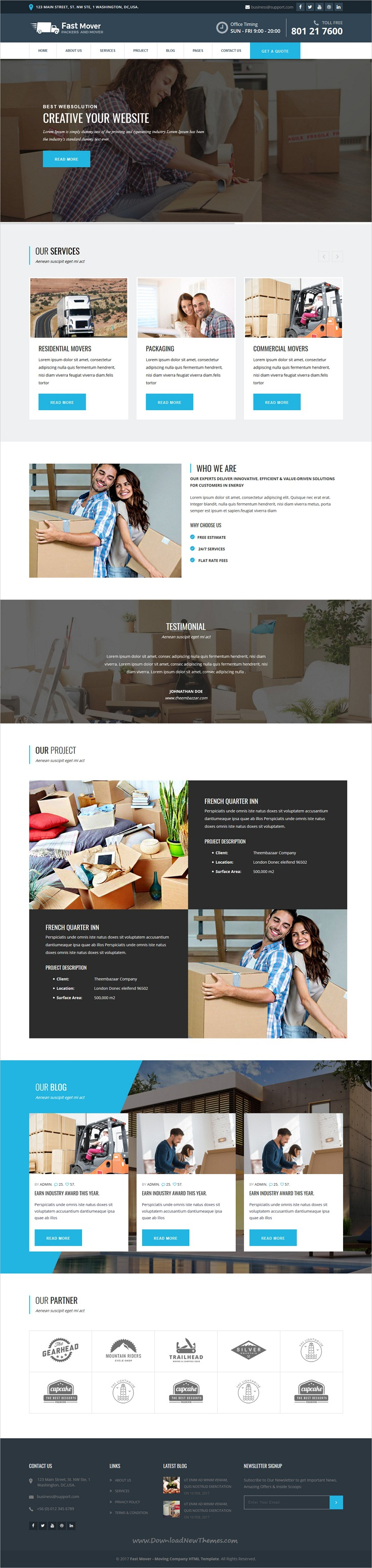 Real Estate Template%0A Fast Mover  Moving Company HTML Template