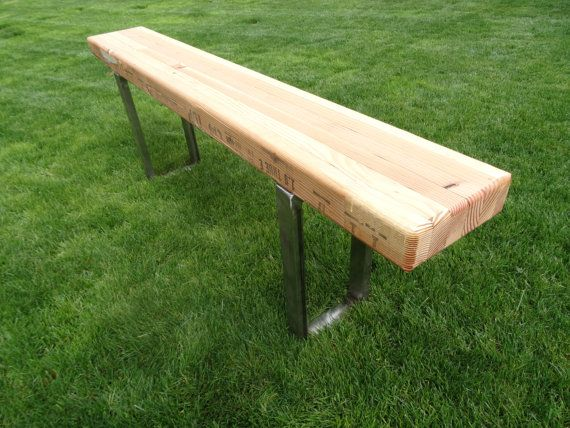 Contemporary Glulam Beam Bench With 2inch Steel Support Legs On Etsy 199 00 Beams Contemporary Barn Home On The Range