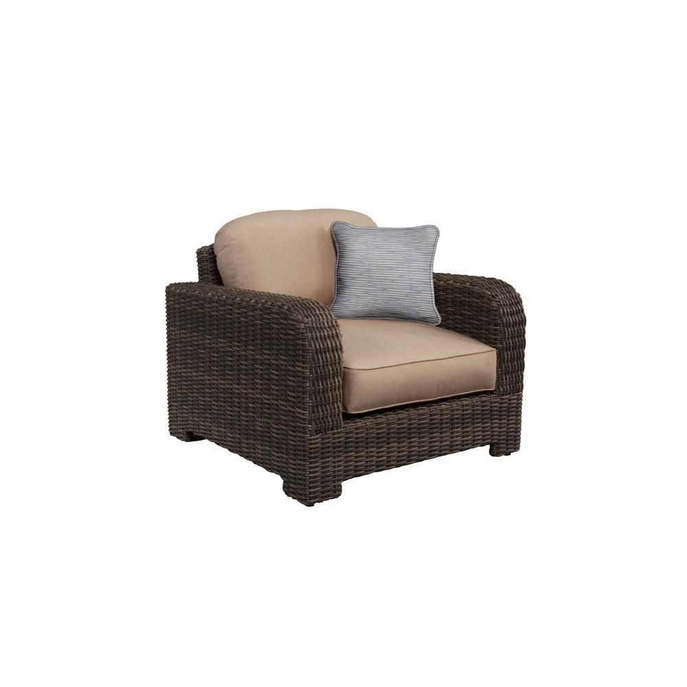 Brown jordan northshore patio lounge chair with sparrow cushions and