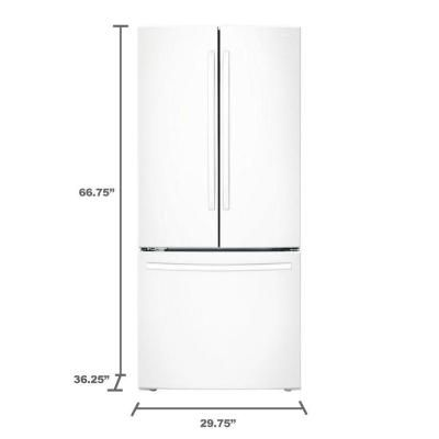 Samsung 30 In W 218 Cu Ft French Door Refrigerator In White