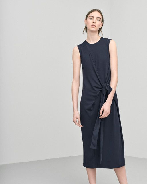 6460fe5b4 Jersey Tie Dress Coal - Dresses - Woman - Filippa K | style ...