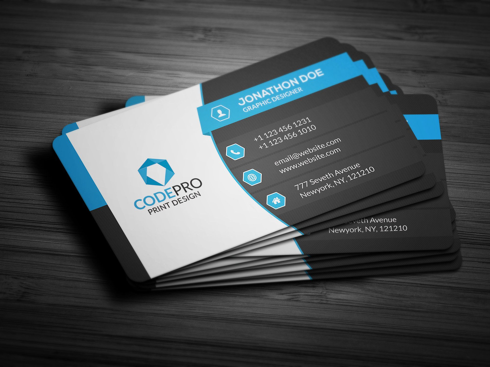 Creative Corporate Business Card | Business cards, Business and ...