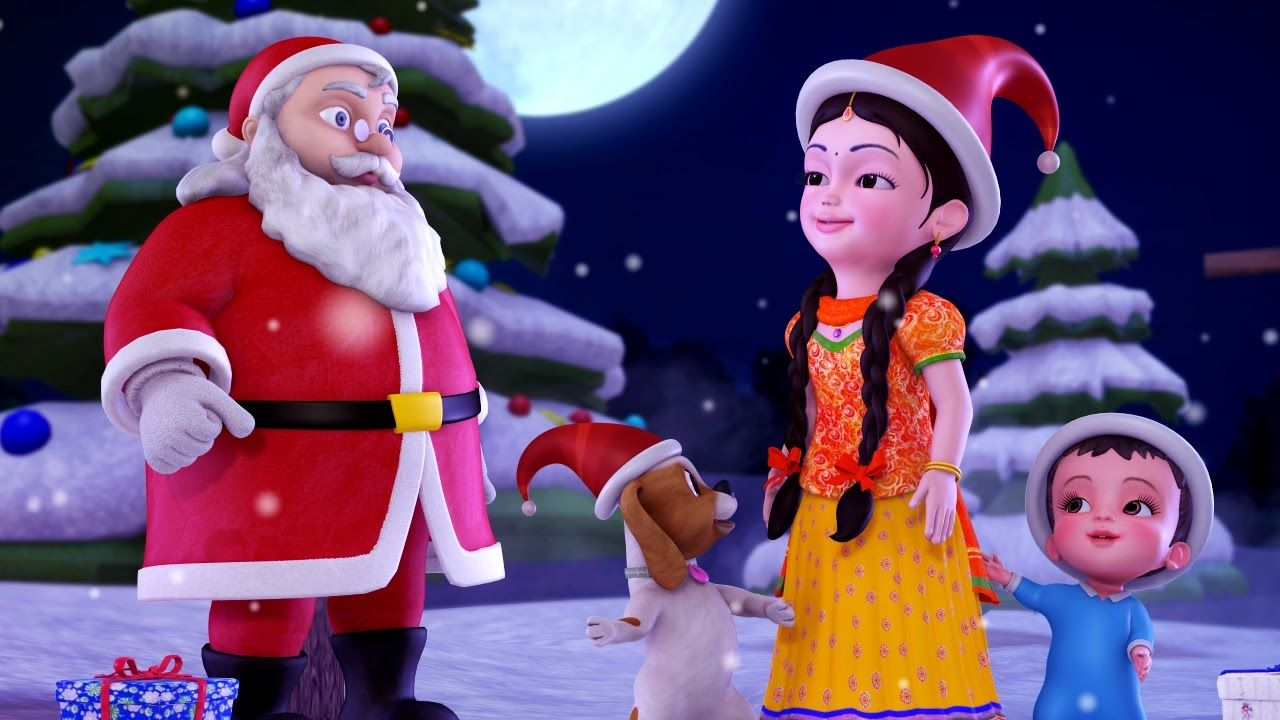 Jingle Bells Christmas Songs For Kids Hindi Rhymes For Children Infobells Youtube Christmas Songs For Kids Christmas Cartoons Rhymes For Kids