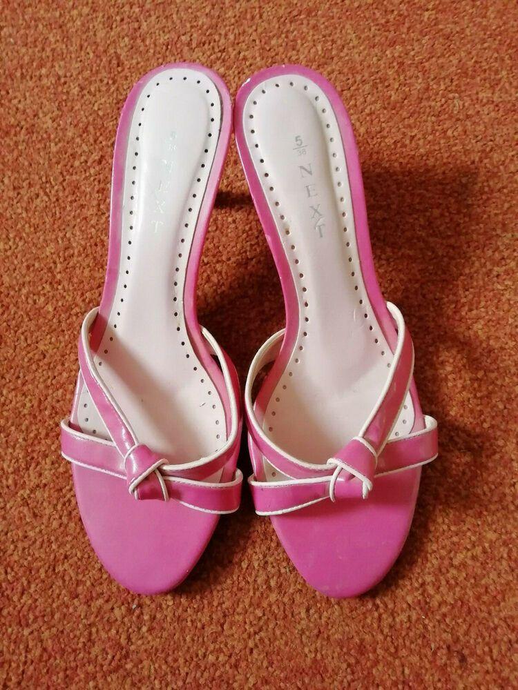 Pink Retro Kitten Heels Sandals Size