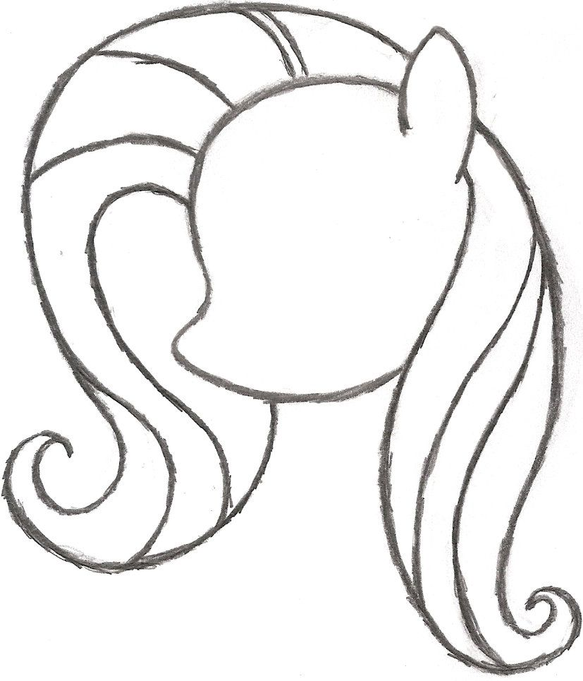 Form Of A My Little Pony Coloring Page My Little Pony Coloring My Little Pony Drawing Pony Drawing